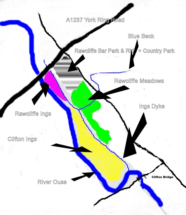 A very rough sketch as to Clifton Ings, Rawcliffe Ings and Rawcliffe Meadows locations