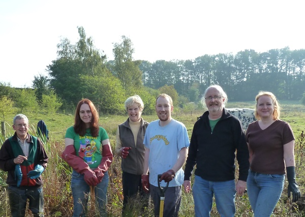 Group photo of The Friends of Rawcliffe Meadows
