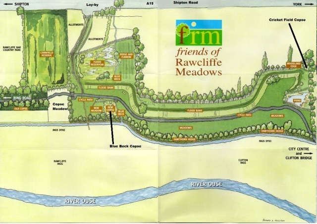 Rawcliffe Meadow map