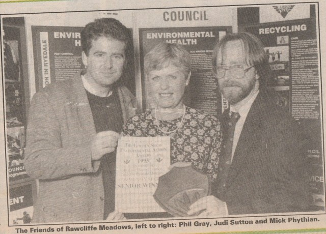 Phil, Judi and Mick collecting Golden Sheaf Award in 1994