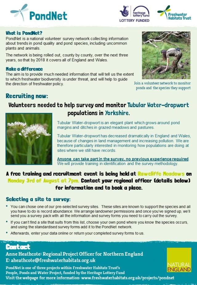 T.W-dropwort training advert-North Yorkshire