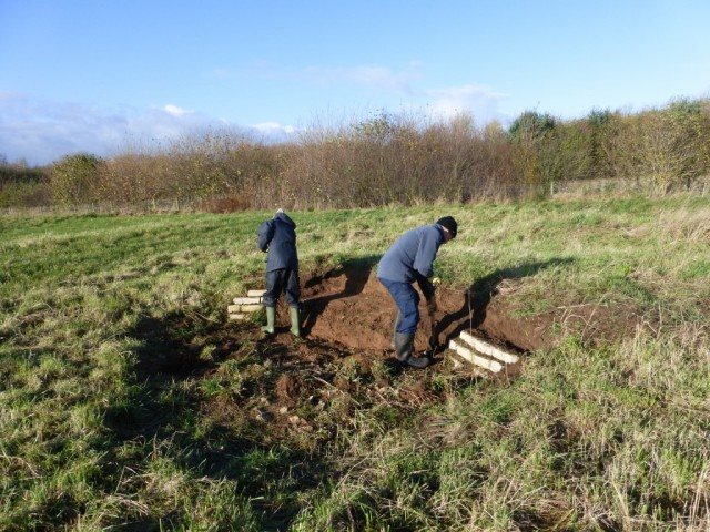 YWT volunteers clearing bee bank
