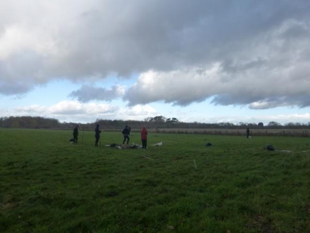 YWT volunteers clearing grassland
